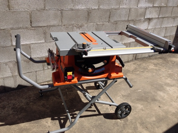 Ridgid R45101 Portable Table Saw On Jobsite | Tool Box Buzz Tool Box Buzz