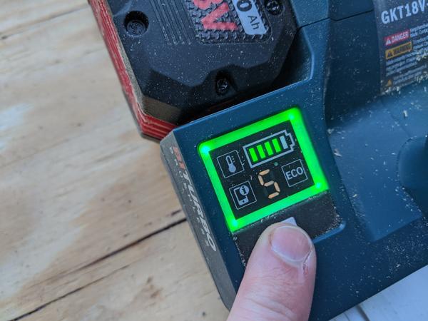 Bosch Tools GKT18V Power Level