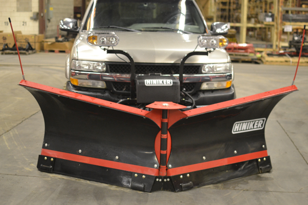 Hiniker Snow Plow on a 3/4 ton truck