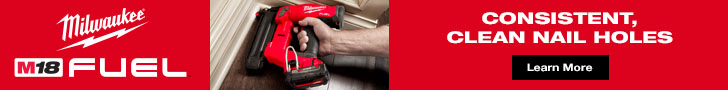 Milwaukee M18 Fuel - Consistent, Clean Nail Holes. Learn More.